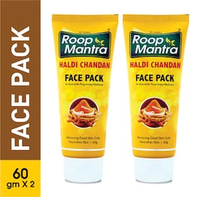 Roop Mantra Haldi Chandan Face Pack 60gm, Pack of 2