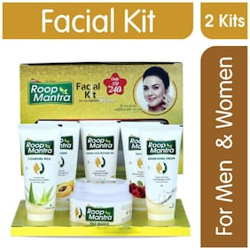 Roop Mantra Facial Kit For Men & Women Glowing Skin 180 gm Pack of 2
