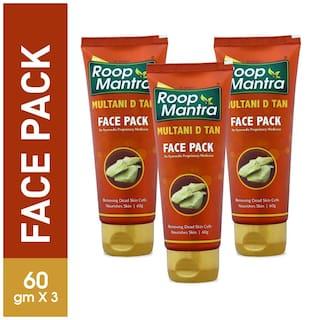 Roop Mantra Multani D TAN Face Pack 60g, Pack of 3
