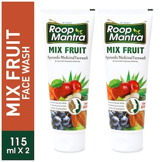 Roop Mantra Mix Fruit Face Wash 115ml Pack Of 2