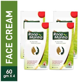 Roop Mantra Face Cream 60 g (Pack of 4) Ayurvedic Skin Cream