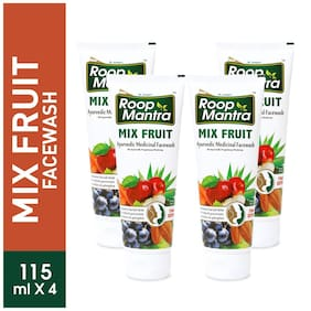 Roop Mantra Mix Fruit Face Wash 115ml Pack Of 4
