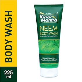 Roop Mantra Neem Body Wash 225 ml Pack of 1 Natural Moisturizing Make Skin Soft & Supple Parabens Free