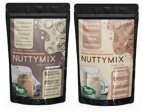 Rootz & Co. Nutty Mix -Nut Powder with Cereals & Chia for Health Drink/Smoothies/Nutritious Dessert (Pack Of 2)