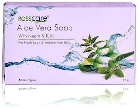 Rosscare Aloe Vera Soap With Neem & Tulsi 75g each pack of 11