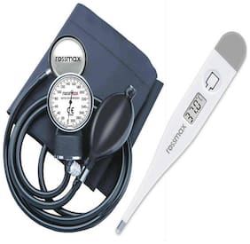 Rossmax Aneroid GB 102 - D-ring cuff with Stethoscope  & Free  TG 380 Thermometer Health Care Appliance Combo
