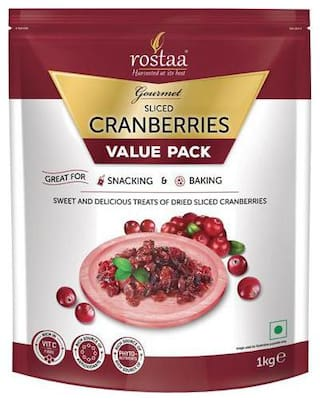 Rostaa Cranberry - Dried  Sliced 1 kg