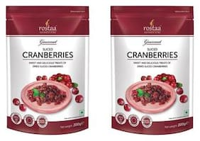 Rostaa Cranberries Sliced 200gm (Pack of 2)