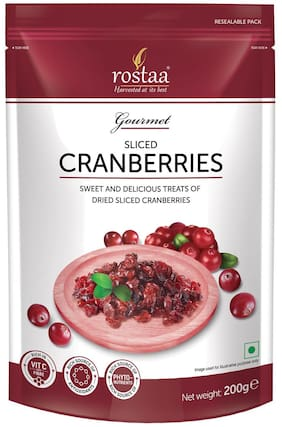 Rostaa Cranberries Sliced 200gm