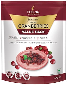 Rostaa Cranberries Sliced 1kg