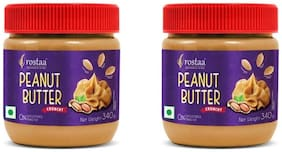 Rostaa Peanutbutter Crunchy 340gm (Pack of 2)