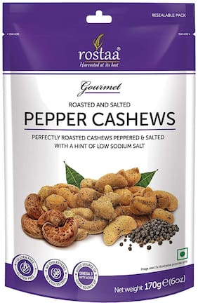 Rostaa Roasted & Salted Black Pepper Cashew 170g (Pack Of 1)
