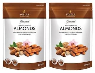 Rostaa Salted Almonds 200g (Pack of 2)
