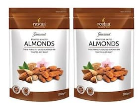 Rostaa Salted Almonds 200gm (Pack of 2)