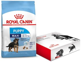 Royal Canin Maxi Puppy Dry Dog Food 4Kg with Free starter kit