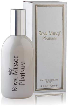 Royal Mirage Eau De Cologne Spray Platinum  120 ml