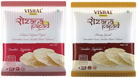 Rozana Papad Moong Special and Chana Chatpata - (400gm   Pack of 2)