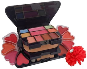 RP (8 Eyeshadow, 1 Powder Cake, 8 Lip Color, 2 Brush) Make Up Kit