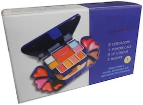 RP Color Series Makeup Kit(10 Eyeshadow ,1 Powder Cake , 8 Lip Color ,2 Blusher) A3746