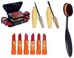 RP Make up kit combo 1 Make-up kit,1 Eyeliner,1 Mascra,6 Lipstick,1Bursh ( Set of 10 )