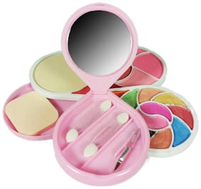 RP Makeup Kit (10 Eyeshadow,1Compact Powder,4 Blusher,3 Lip color,1 Mirror,1 Puff) (Pack of 1)