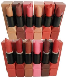 RP New Beauty Matte Lipstick pack of 12 Multicolor (12 g each)