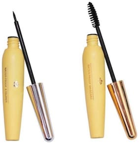 RP Waterproof Eye liner and Mascara Set of 2 Black