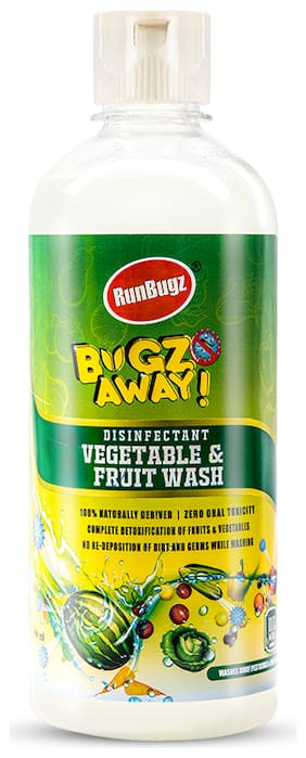 RunBugz Disinfectant Vegetable & Fruit Wash 500 ml (Pack of 1)