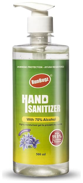 Runbugz Hand Sanitizer with 70% Alcohol 500 ml (Pack of 1)
