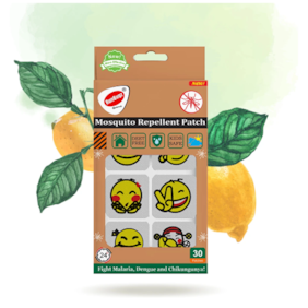 RunBugz Mosquito Repellent Emoji Patches for Babies 30 Patches (Pack of 1)