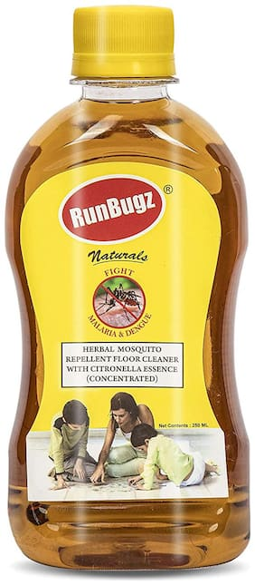 RunBugz Mosquito Repellent Concentrate Floor Cleaner 250 ml (Make 6 L From 250 ml) - Pack of 1