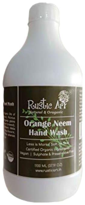 Rustic Art Organic Orange Neem Hand Wash (1.1 L )