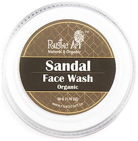 Rustic Art Organic Sandal Face Wash Concentrate 50g