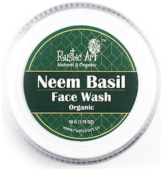 Rustic Art Organic Neem Basil Face Wash Concentrate 50g