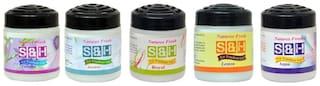 S & H Royal, Aqua, Jasmin, levender, Lemon Air freshener with assorted Air freshner 100 g  each (Pack of 6)