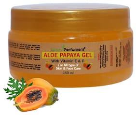 Saanvi Perfumers Papaya Gel With Vitamin E & C For Skin Lightening & Moisturizer 150 ml (Pack Of 1)