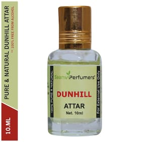 Saanvi Perfumers Dunhill Attar For Men and Women Modern Attar Itra Scent Natural Fragrance Oil Perfume Oil 0% Alcohol With Modern Fragrance 10ml (Pack Of 1)
