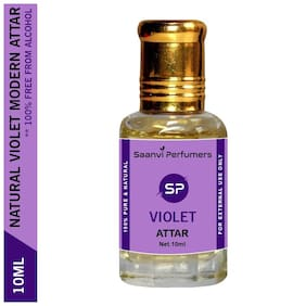 Saanvi Perfumers Violet Attar For Modern Men & Women Alcohol Free Perfume Oil With Roll On Easy To Apply Floral Attar (Floral) Pack of 1 10ml
