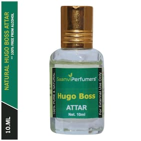 Saanvi Perfumers Hugo Boss Attar For Men and Women Modern Attar Itra Scent Natural Fragrance Oil Perfume Oil 0% Alcohol With Modern Fragrance 10ml (Pack Of 1)