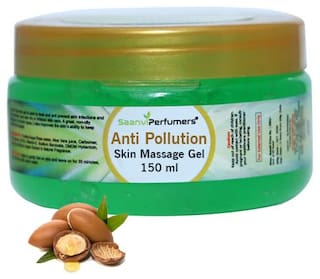 Saanvi Perfumers Anti-Pollution Skin Massage Gel With Argan Sun Protection For All Types of Skin & Face Care Skin Healthy and Glowing Gel 150 ml (Pack Of 1)