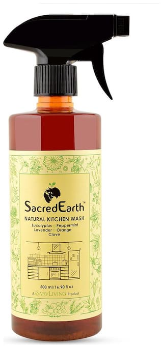 SacredEarth Natural Kitchen Cleaner - With Orange, Lemon, Clove, Lemongrass, Eucalyptus, Peppermint, Lavender   500ml