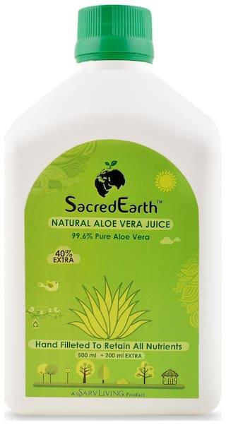 SacredEarth Natural Aloe Vera Juice - With 99.6% Pure Aloe Vera Juice - 500ml + 200ml Extra Immunity/Immunity Booster