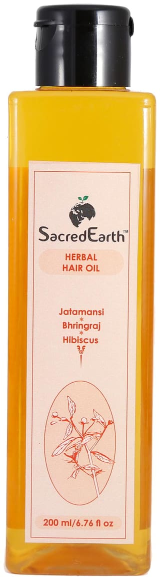 SacredEarth Herbal Hair Oil - With Jatamansi, Bhringraj and Hibiscus-200ml