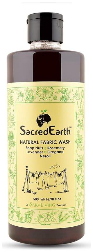 SacredEarth Natural Fabric Liquid Wash - With Soap Nuts, Aloe Vera, Lavender, Neroli, Ylang, Rosemary, Oregano -500ml