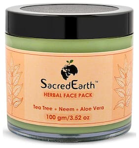 SacredEarth Herbal Face Pack - With Neem,Tea Tree and Aloe Vera-100g
