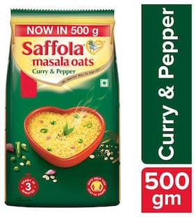 Saffola Masala Oats - Curry & Pepper 500 g