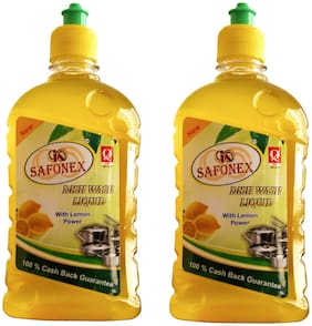 Safonex Dishwash gel 500 ml (Pack of 2)