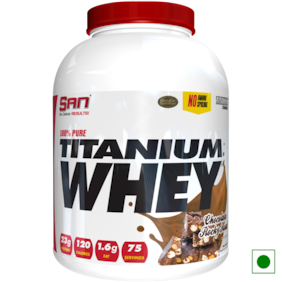 SAN 100% Pure Titanium Whey 5 lb Chocolate Rocky Road Powder (Pack of 1)