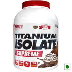 SAN Titanium Isolate Supreme 5 lb Delicious Milk Chocolate Powder (Pack of 1)