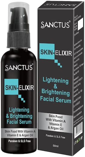 SANCTUS SKIN-ELIXIR LIghtening & Brightening Facial Serum - 50ml (Enriched with Argan Oil  Vitamin E & Vitamin A - For Youthful Beautiful Skin)